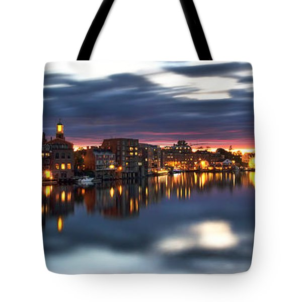 Portsmouth Waterfront Panorama Tote Bag