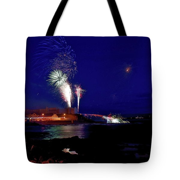 Portstewart Fireworks Tote Bag