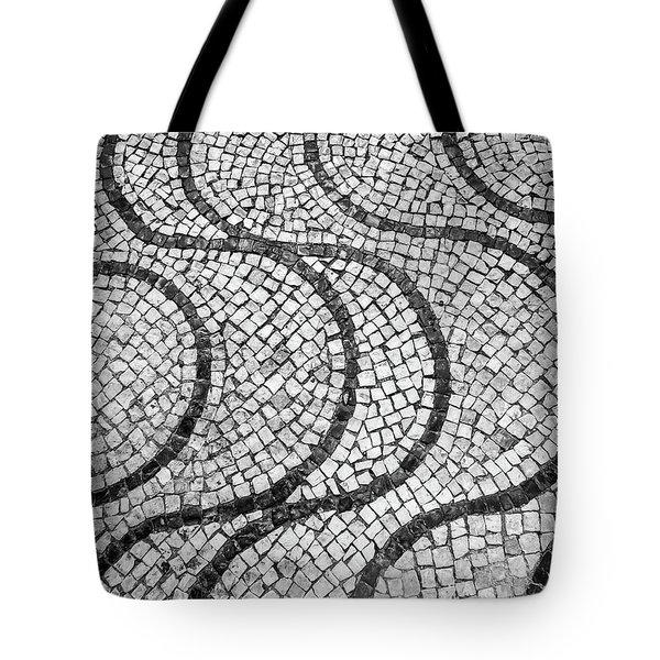 Portuguese Pavement Patterns In Cascais Tote Bag