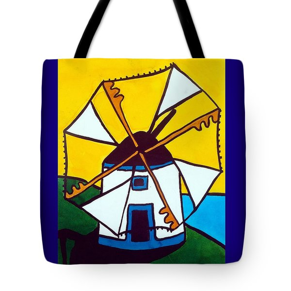 Portuguese Singing Windmill By Dora Hathazi Mendes Tote Bag by Dora Hathazi Mendes