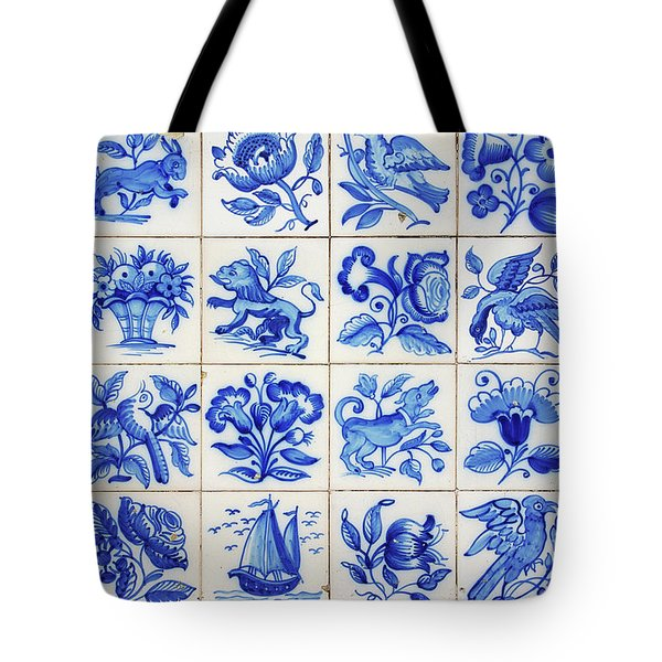 Portuguese Tiles Tote Bag by Carlos Caetano