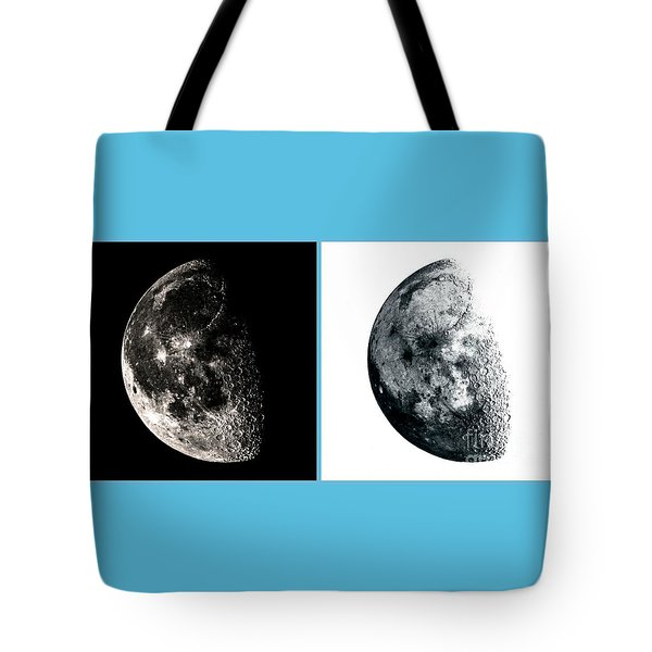 Pos-neg Moon Tote Bag