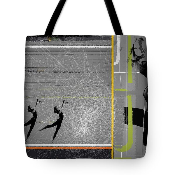 Pose And Jump Tote Bag by Naxart Studio