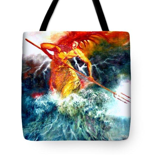 Poseidon Tote Bag by Henryk Gorecki