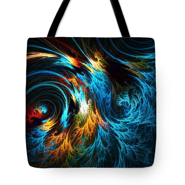 Poseidon's Wrath Tote Bag by Lourry Legarde