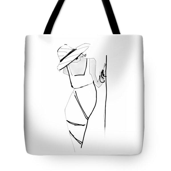 Posing Tote Bag by Barbara Andolsek