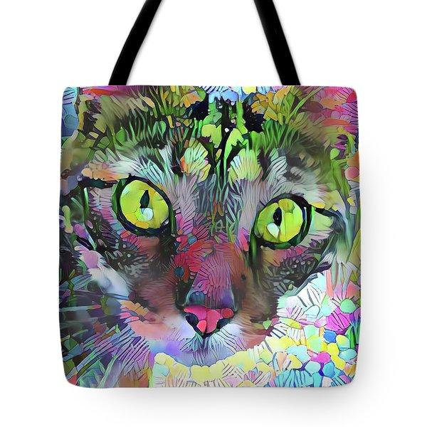 Posie The Tabby Cat Tote Bag