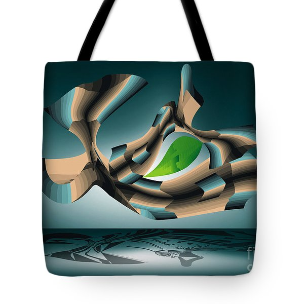 Tote Bag featuring the digital art Position by Leo Symon