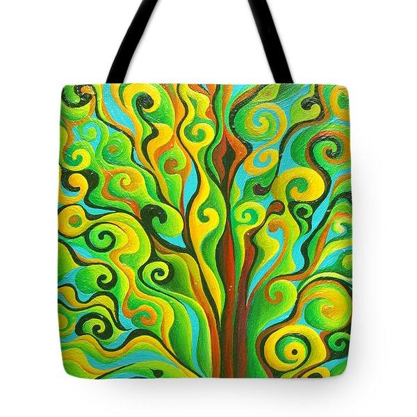 Positronic Spirit Tree Tote Bag