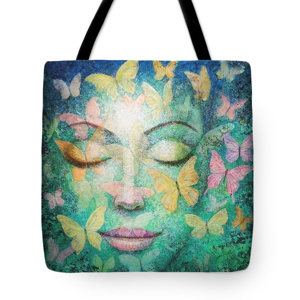 Tote Bag featuring the painting Possibilities Meditation by Sue Halstenberg