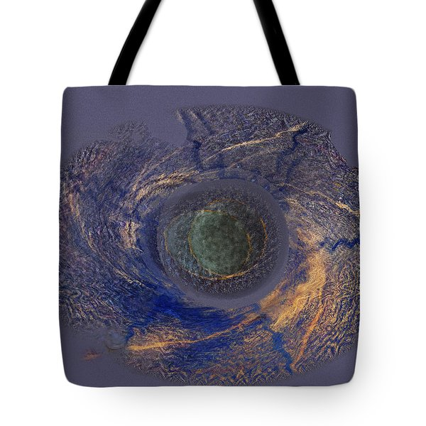 Tote Bag featuring the painting Possible Asymmetric Big Bang 2 by David Klaboe