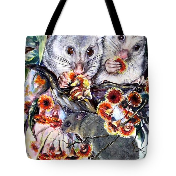 Possum Family Tote Bag