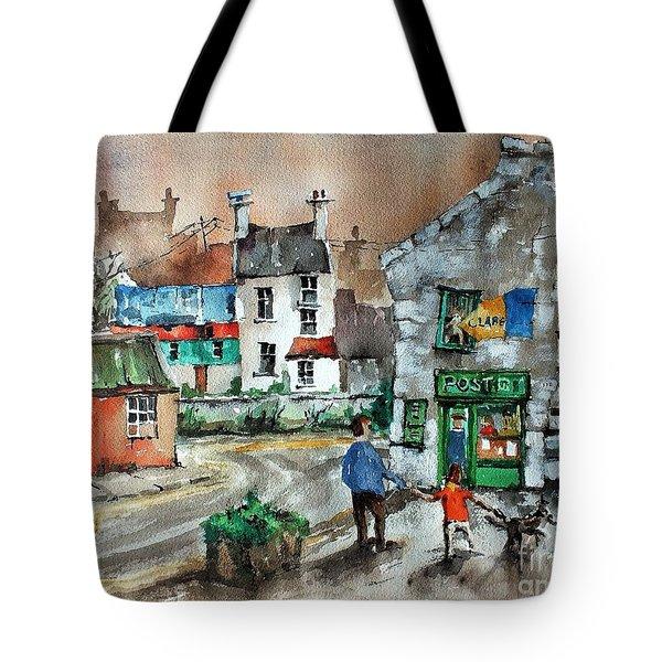 Post Office Mural In Ennistymon Clare Tote Bag