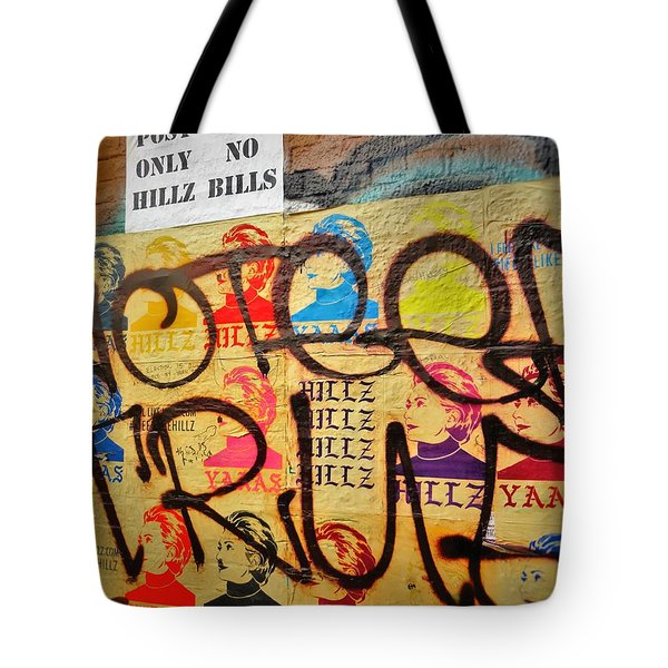 Post No Bills Hillary Clinton  Tote Bag