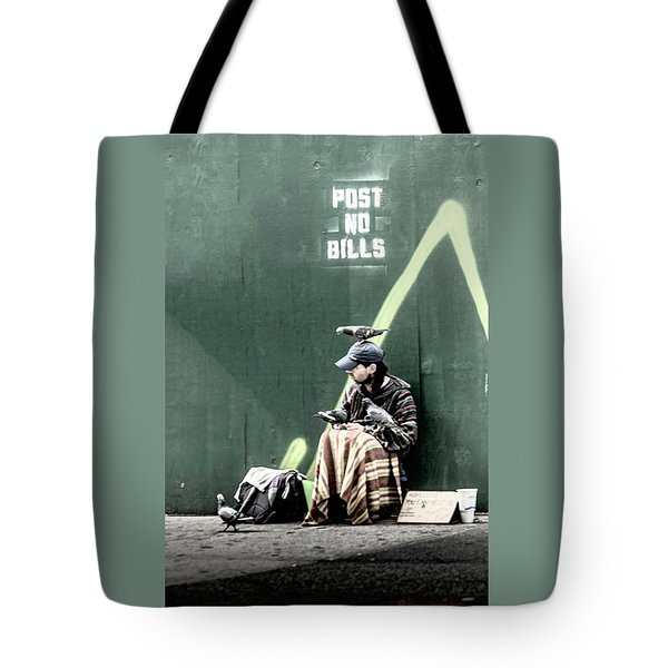 Tote Bag featuring the photograph Post No Bills by Marvin Spates