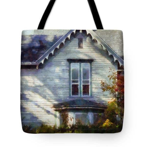 Tote Bag featuring the photograph Postage Due - Farmhouse Window by Janine Riley