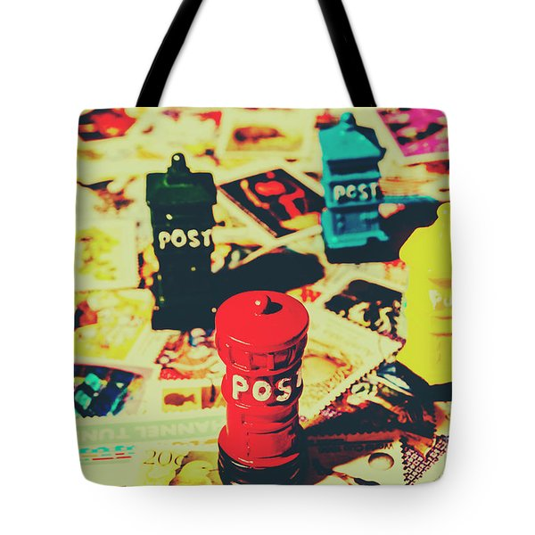 Tote Bag featuring the photograph Postage Pop Art by Jorgo Photography - Wall Art Gallery