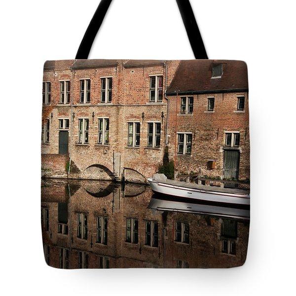 Postcard Canal II Tote Bag by Joan Carroll