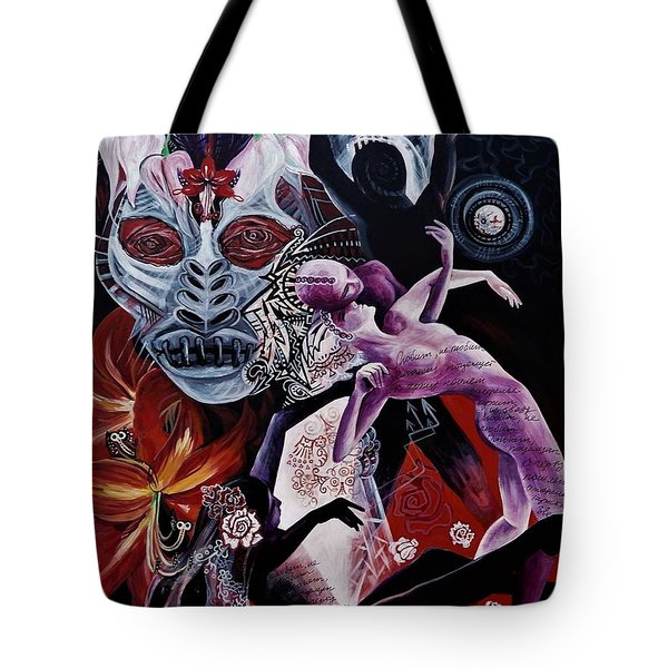 Postcard From Death Tote Bag by Yelena Tylkina