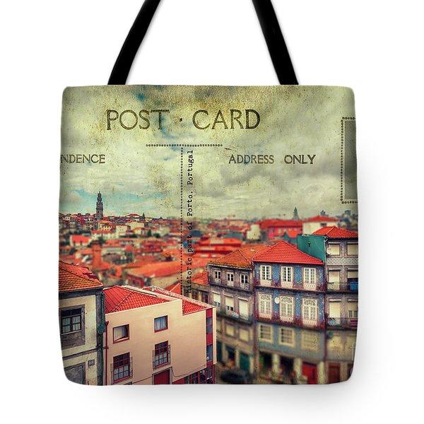 postcard of Porto Tote Bag