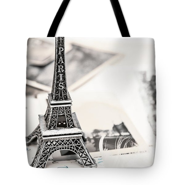 Postcards And Letters From Paris Tote Bag