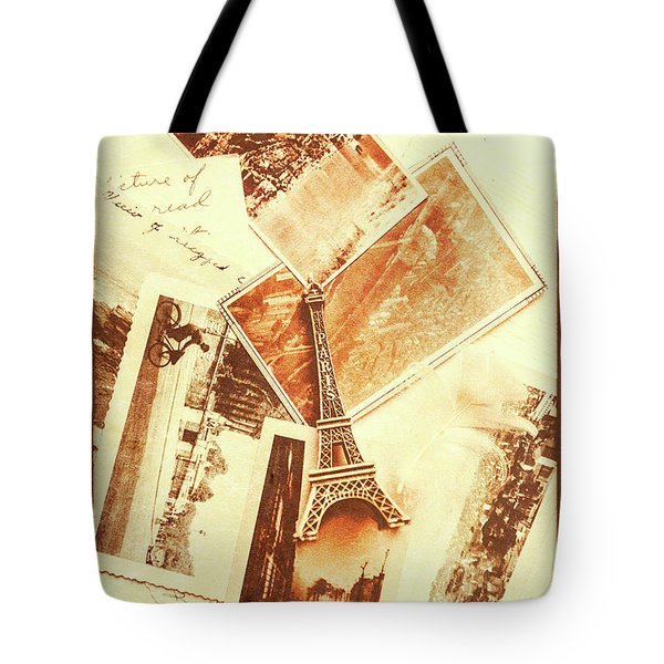 Postcards And Letters From The City Of Love Tote Bag