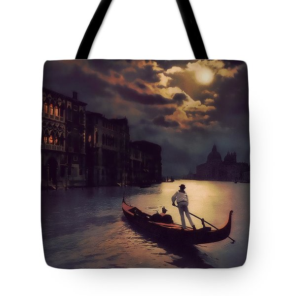 Postcards From Venice - The Red Gondola Tote Bag