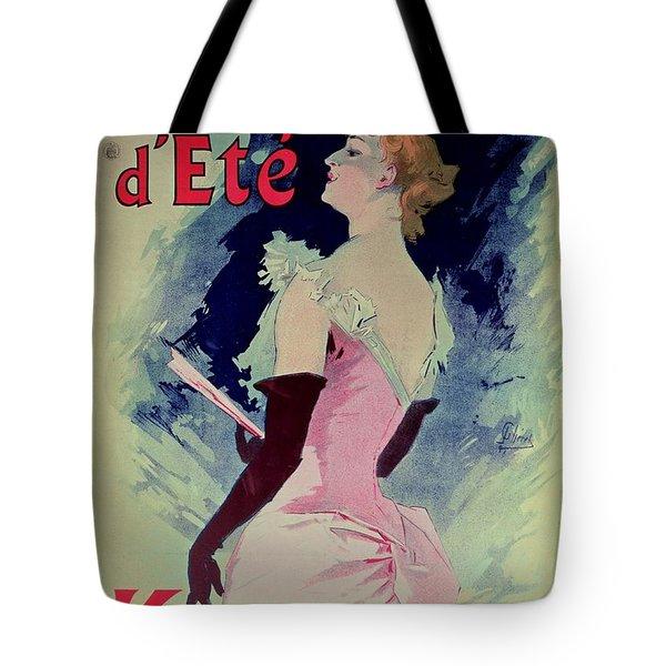 Poster Advertising Alcazar Dete Starring Kanjarowa  Tote Bag by Jules Cheret