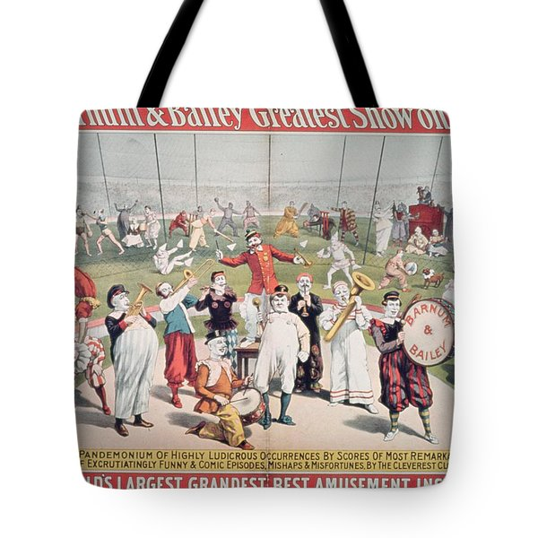 Poster Advertising The Barnum And Bailey Greatest Show On Earth Tote Bag by American School