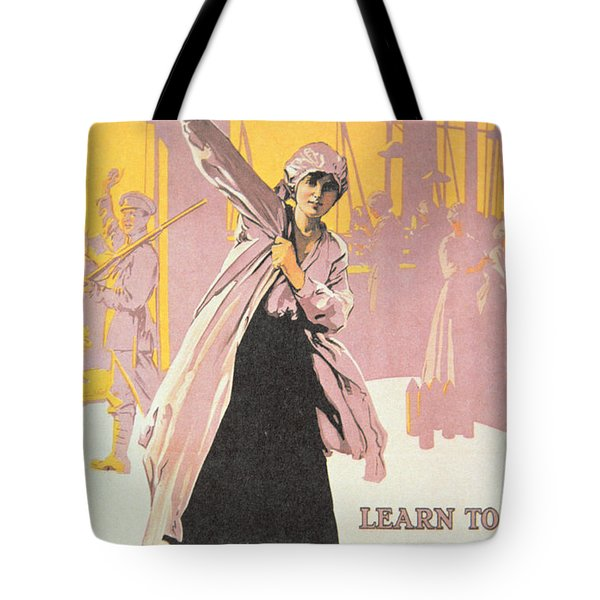 Poster Depicting Women Making Munitions  Tote Bag by English School