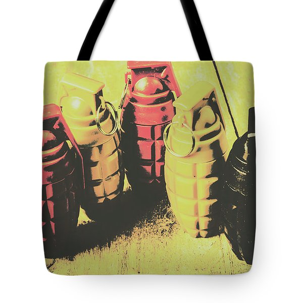 Tote Bag featuring the photograph Posterized Granade Art by Jorgo Photography - Wall Art Gallery