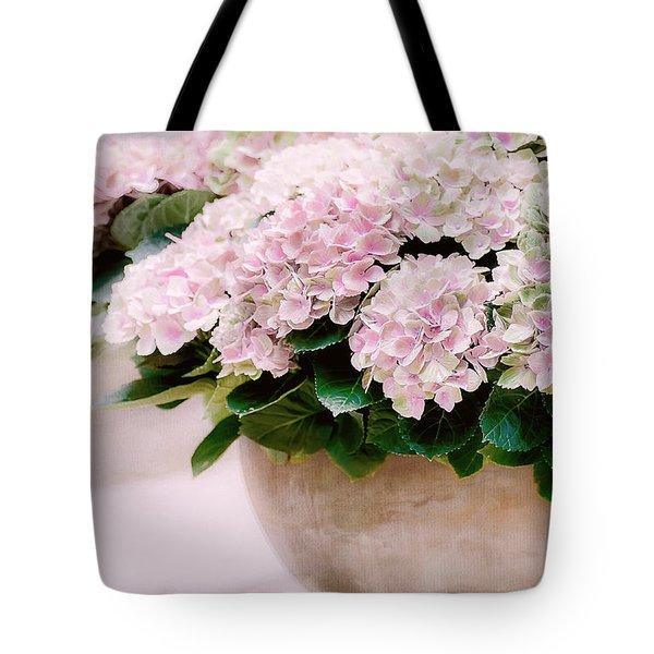 Pot Of Hydrangeas Tote Bag