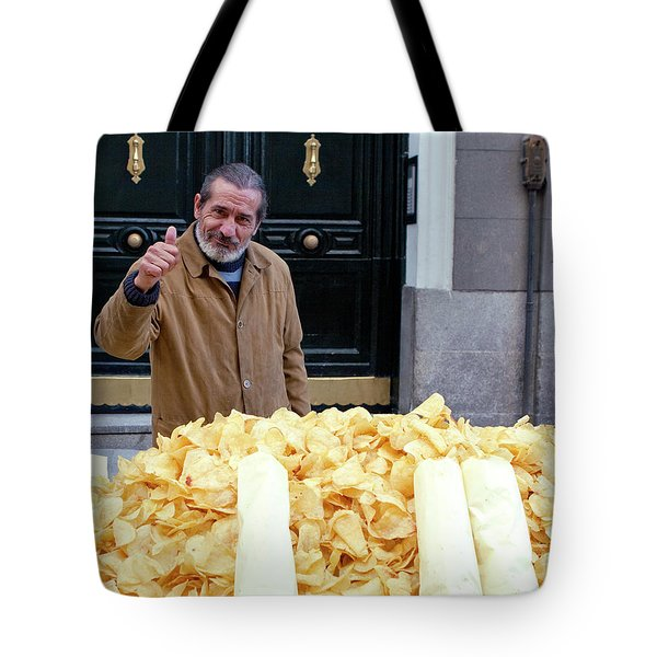 Potato Chip Man Tote Bag by Lorraine Devon Wilke