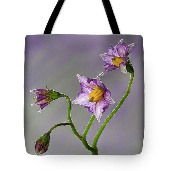 Potato Flowers Tote Bag