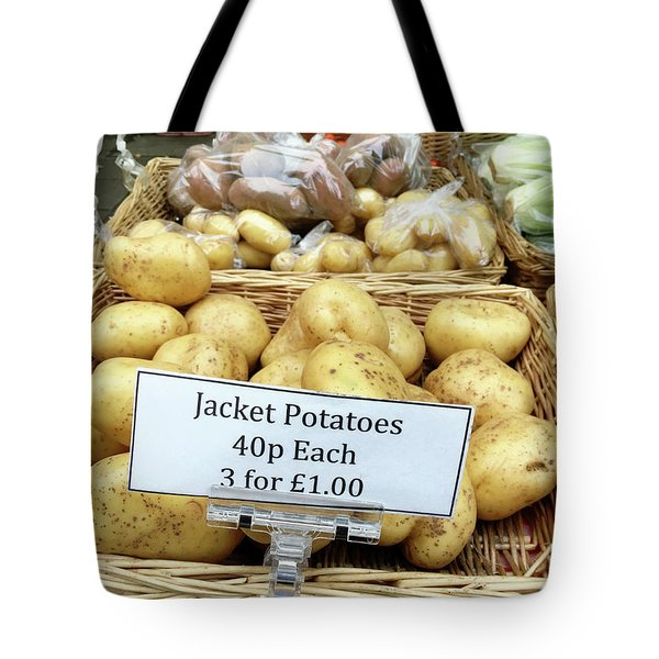 Potatoes At The Market  Tote Bag by Tom Gowanlock