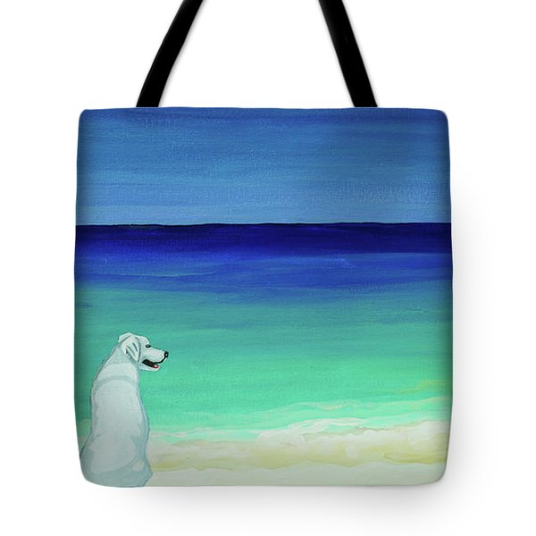 Lab Potcake Dogs On The Beach Tote Bag