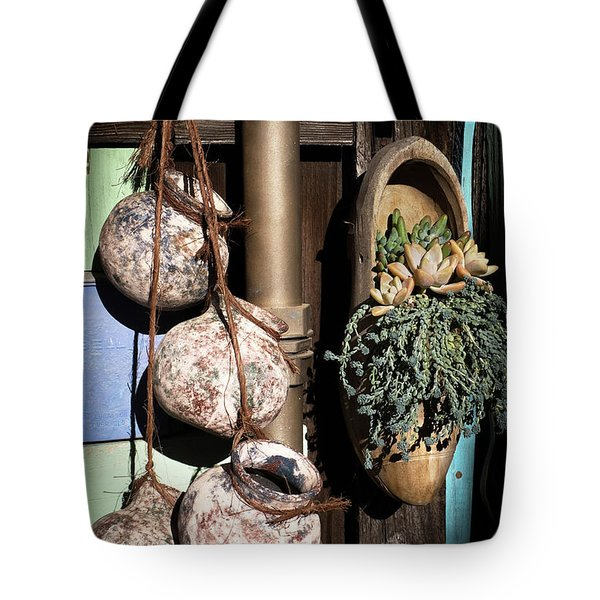 Tote Bag featuring the photograph Pots And Plants by Catherine Lau