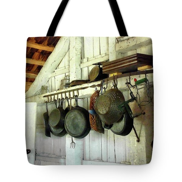 Tote Bag featuring the photograph Pots In Kitchen by Susan Savad