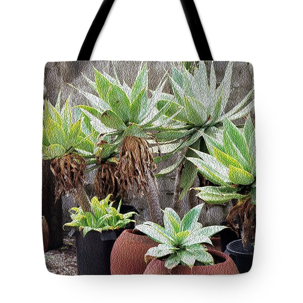Potted Agave Plants Tote Bag