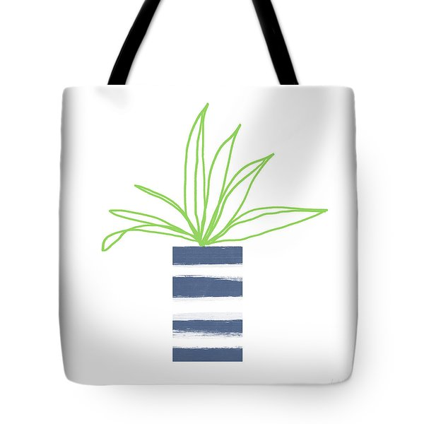 Tote Bag featuring the mixed media Potted Plant 2- Art By Linda Woods by Linda Woods