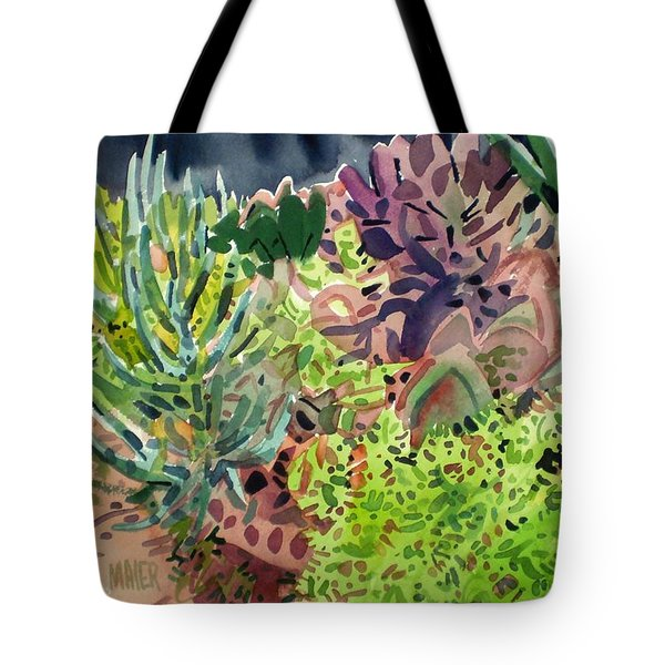 Potted Succulents Tote Bag by Donald Maier