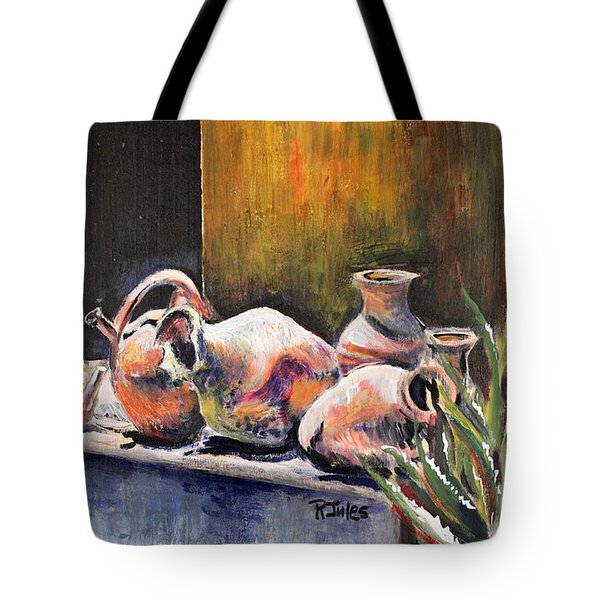Pottery And Aloe Tote Bag