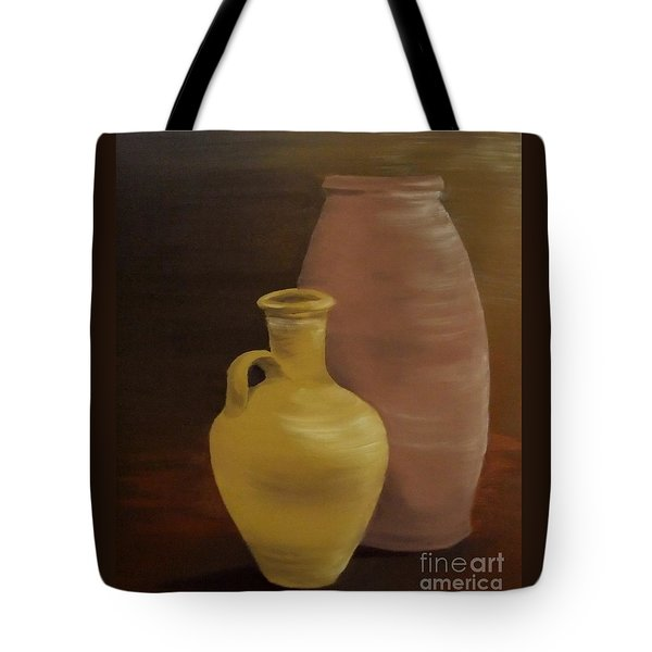 Tote Bag featuring the painting Pottery by Annemeet Hasidi- van der Leij