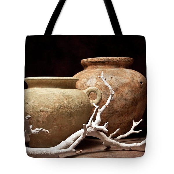 Pottery With Branch I Tote Bag