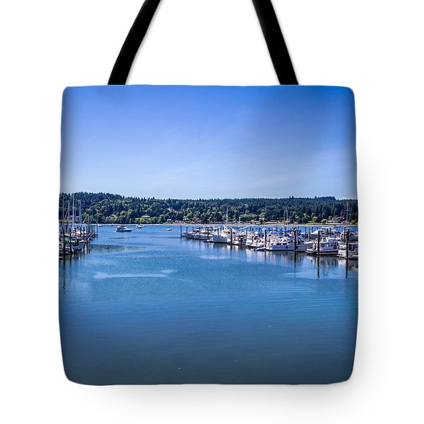 Tote Bag featuring the photograph Poulsbo Marina by Randy Bayne
