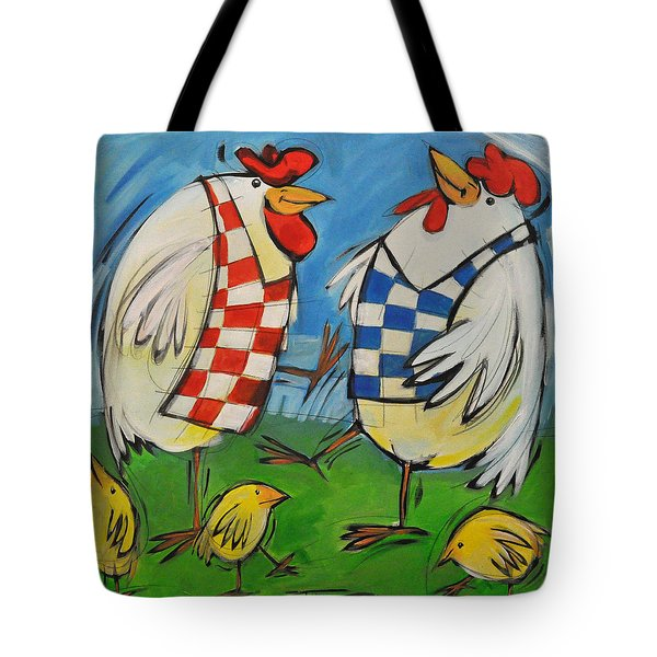 Poultry In Motion Tote Bag by Tim Nyberg