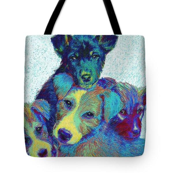 Pound Puppies Tote Bag by Jane Schnetlage