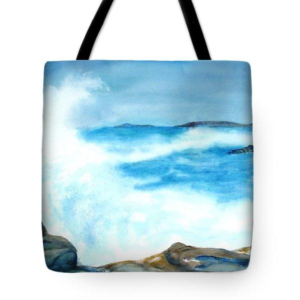 Pounding Surf Tote Bag