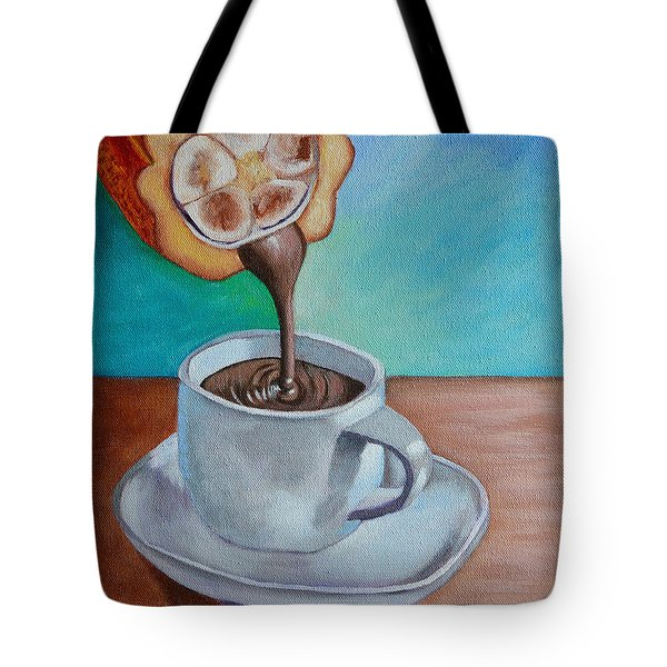 Pour Me A Cup Of Chocolate Please. Tote Bag
