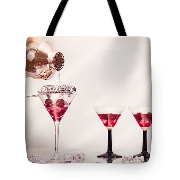 Pouring A Cocktail Tote Bag